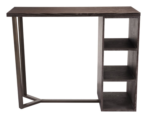 Brooklyn Storage Bar Table Gray & Brass