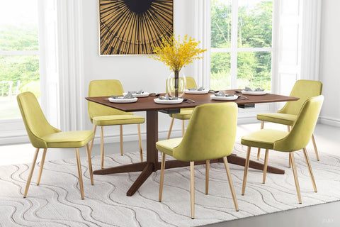 Image of Merritt Dining Chair (Set of 2) Green & Gold