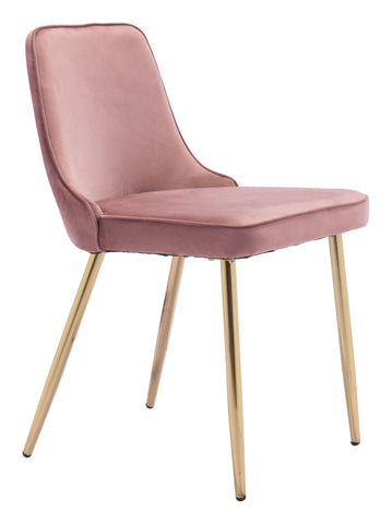 Image of Merritt Dining Chair (Set of 2) Pink & Gold
