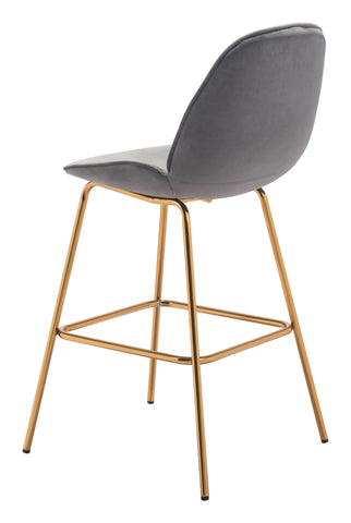 Image of Siena Bar Chair (Set of 2) Gray & Gold