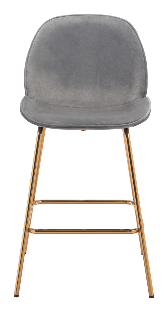 Siena Counter Chair (Set of 2) Gray & Gold