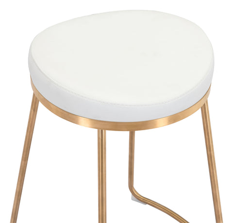 Image of Bree Counter Stool (Set of 2) White & Gold