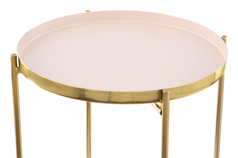Image of Jenna Side Table White & Gold