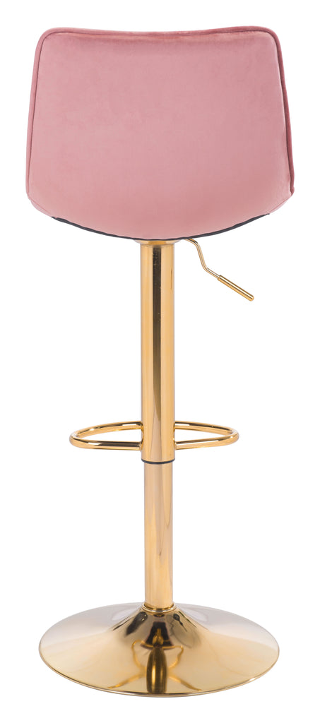 Prima Bar Chair Pink & Gold