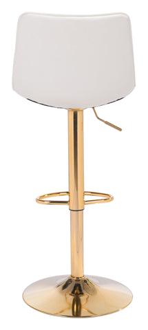 Image of Prima Bar Chair White & Gold