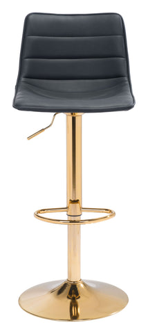 Image of Prima Bar Chair Black & Gold