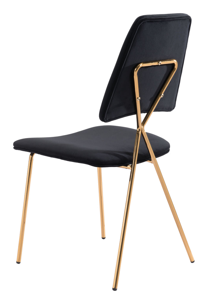 Chloe Dining Chair (Set of 2) Black & Gold