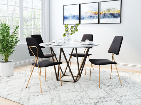 Image of Chloe Dining Chair (Set of 2) Black & Gold