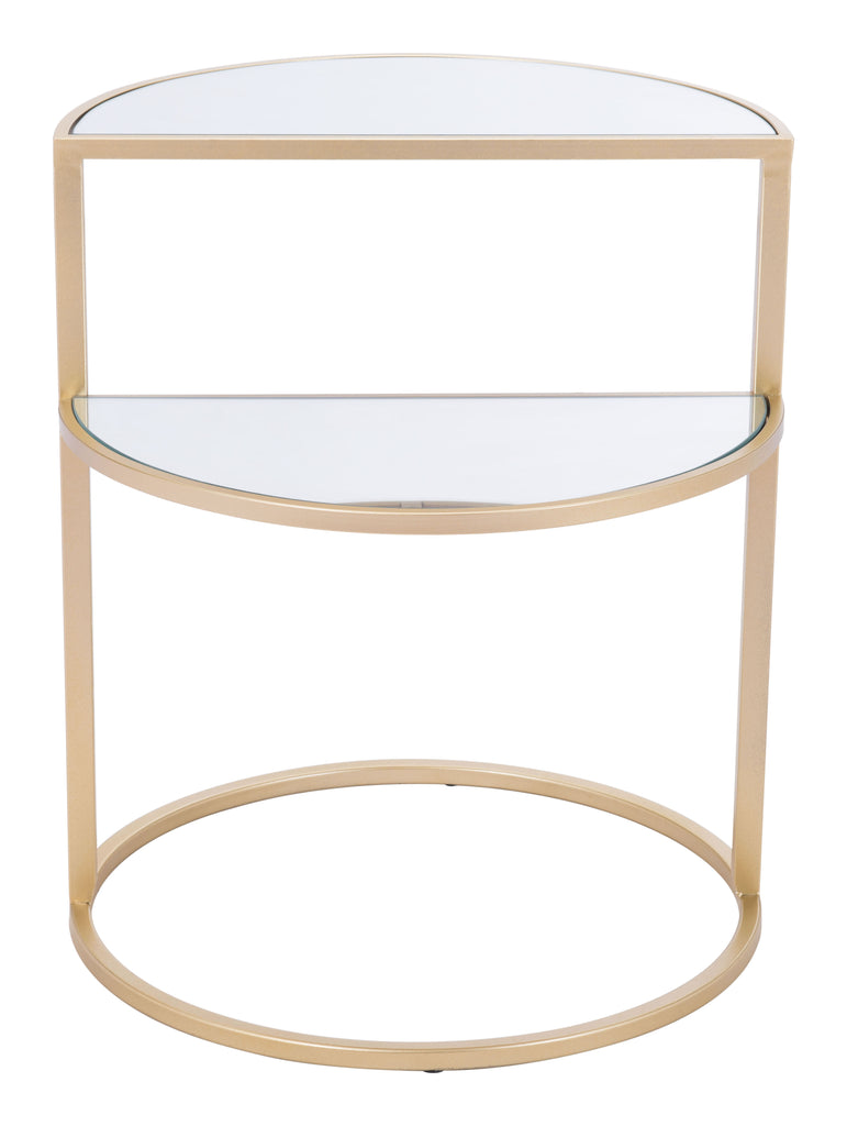 Terrace Side Table Mirror & Gold