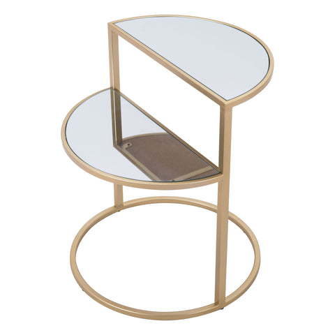 Image of Terrace Side Table Mirror & Gold
