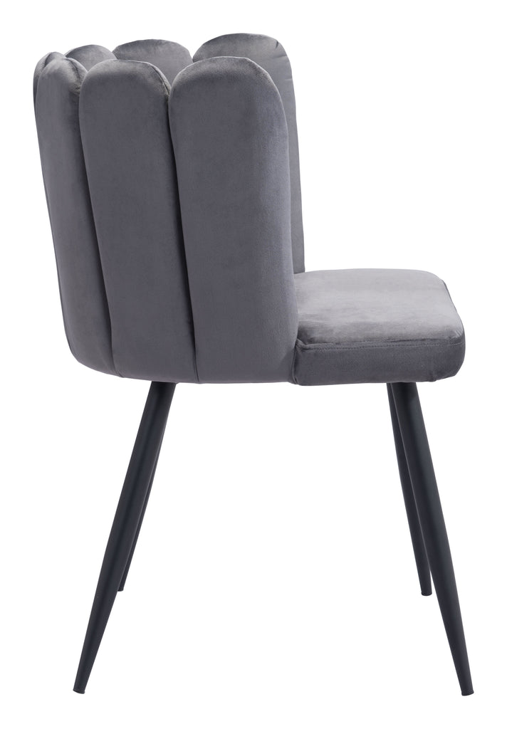 Adele Dining Chair (Set of 2) Dark Gray