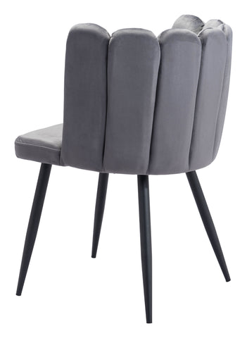 Image of Adele Dining Chair (Set of 2) Dark Gray