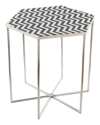 Image of Forma Side Table Black & White