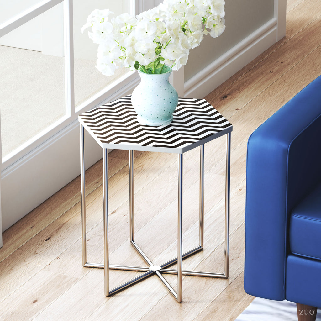 Forma Side Table Black & White