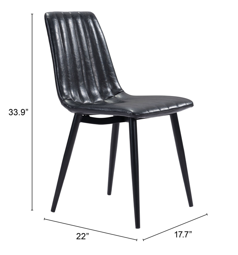 Dolce Dining Chair (Set of 2) Vintage Black