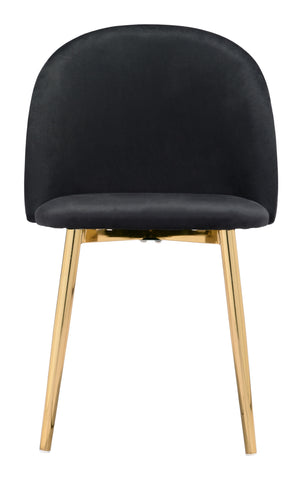 Image of Cozy Dining Chair (Set of 2) Black