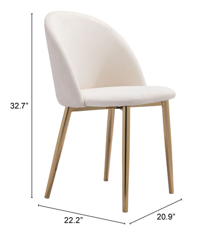 Image of Cozy Dining Chair (Set of 2) Cream