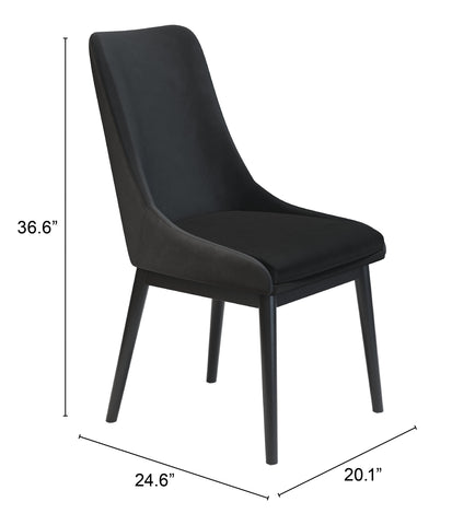 Image of Ashmore Dining Chair (Set of 2) Black