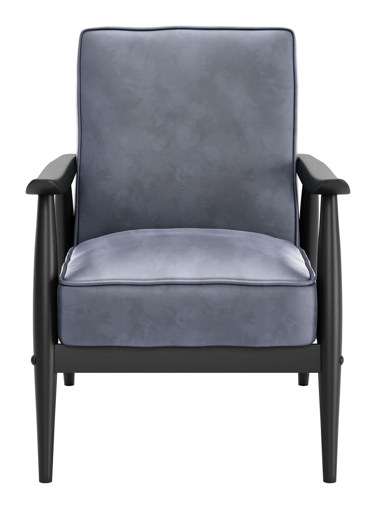 Rocky Velvet Arm Chair Gray