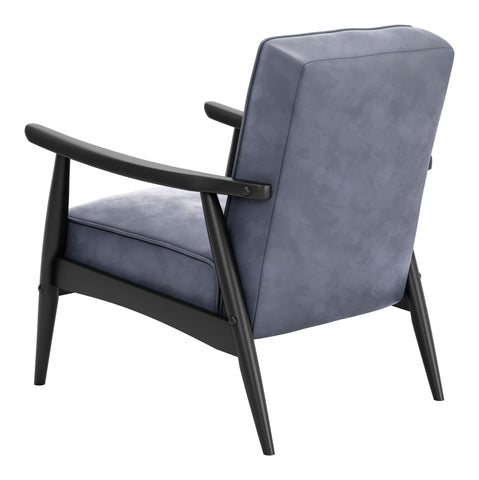 Image of Rocky Velvet Arm Chair Gray