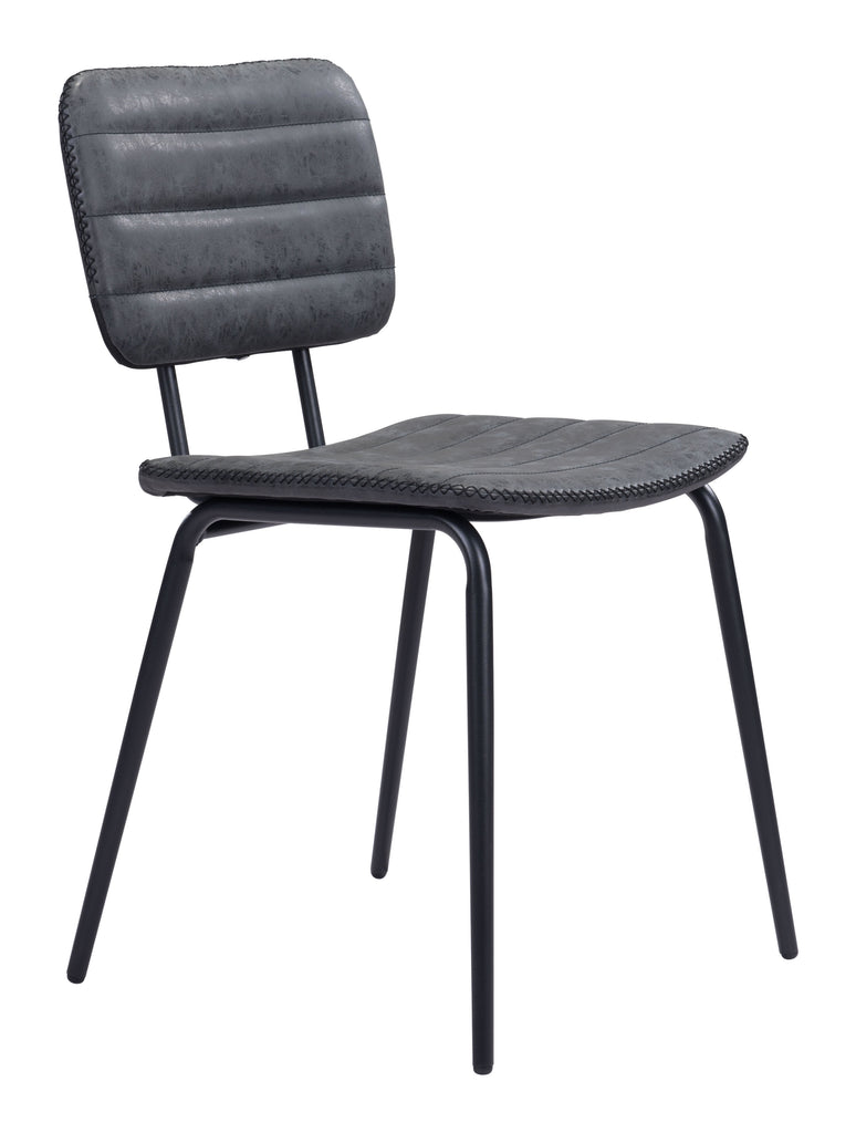 Boston Dining Chair (Set of 2) Vintage Black