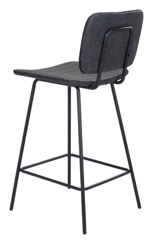 Image of Boston Counter Chair Vintage Black