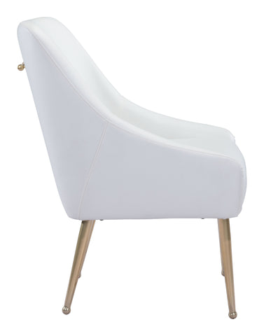 Image of Mira Dining Chair White & Gold