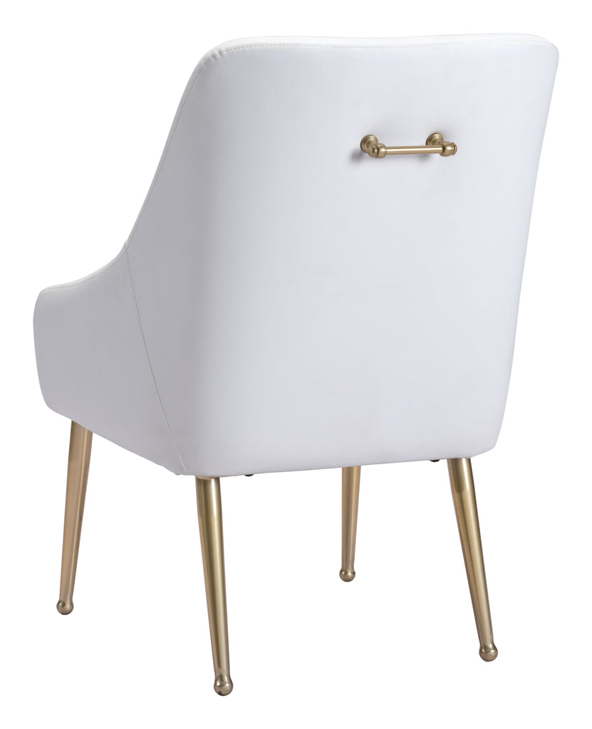 Mira Dining Chair White & Gold