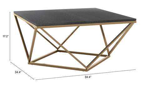 Verona Marble Coffee Table Black & Gold