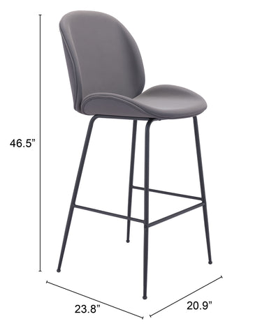Image of Miles Bar Chair Gray