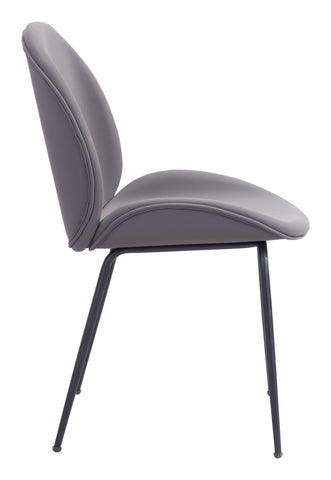 Image of Miles Dining Chair (Set of 2) Gray