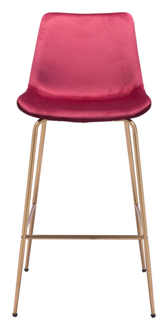 Image of Tony Bar Chair Red & Gold