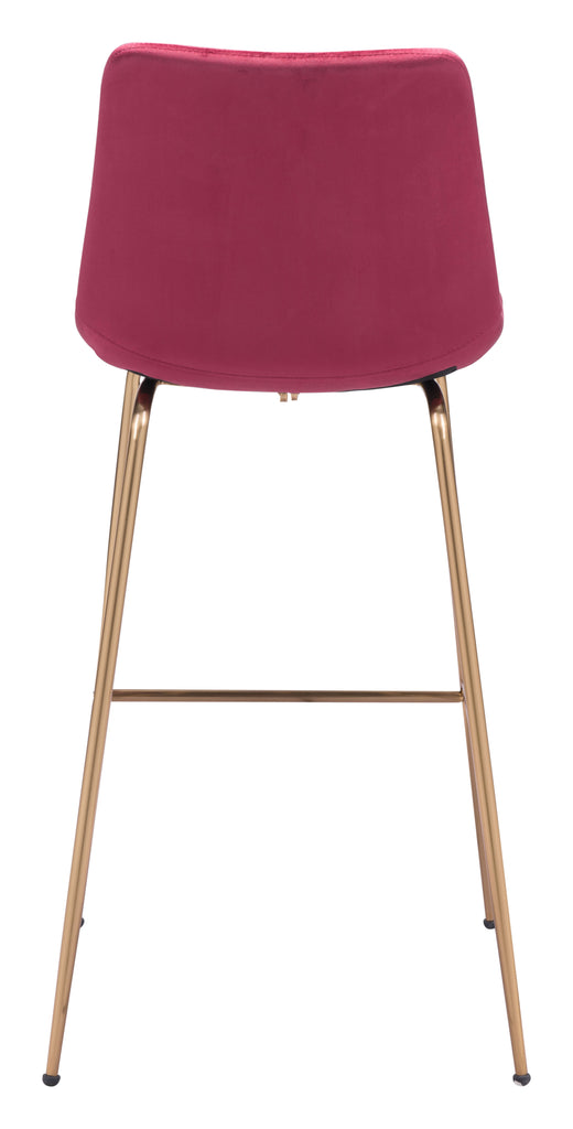 Tony Bar Chair Red & Gold