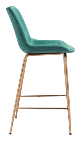 Image of Tony Counter Chair Green & Gold