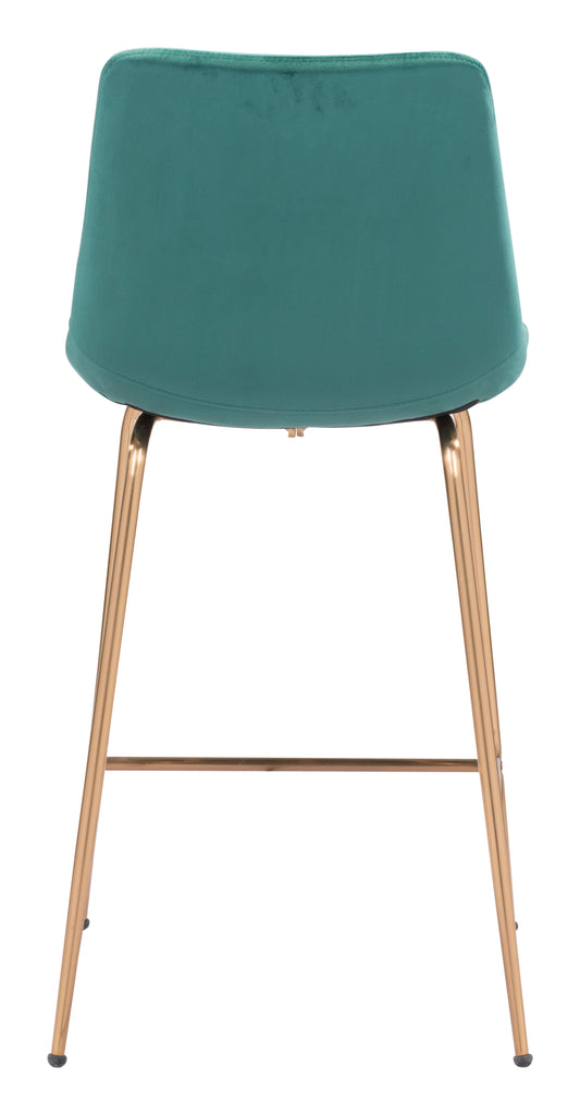 Tony Counter Chair Green & Gold