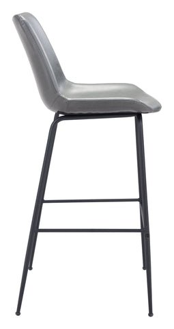 Image of Byron Bar Chair Gray