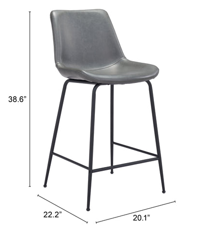Byron Counter Chair Gray