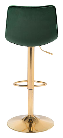 Image of Prima Bar Chair Dark Green & Gold