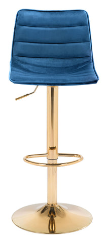 Image of Prima Bar Chair Dark Blue & Gold