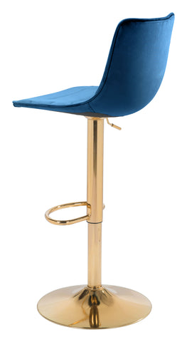 Prima Bar Chair Dark Blue & Gold
