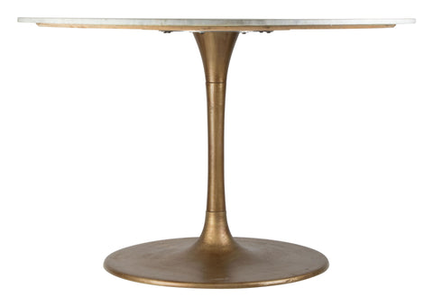 Ithaca Dining Table White & Gold