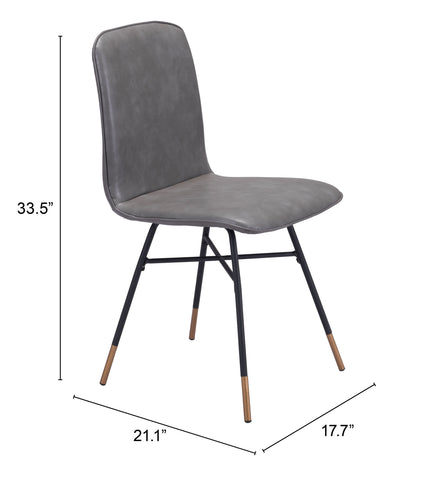 Image of Var Dining Chair (Set of 2) Gray