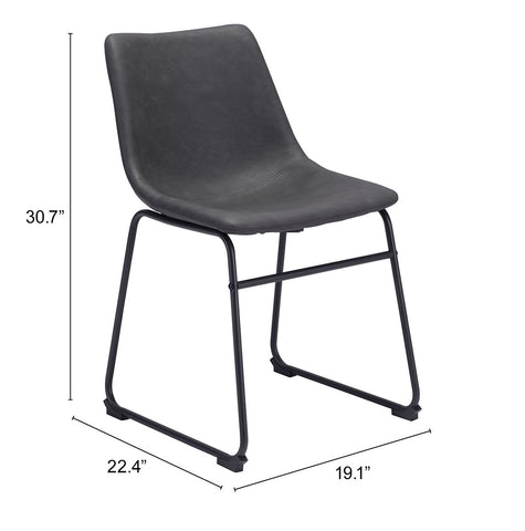 Image of Smart Dining Chair (Set of 2) Charcoal