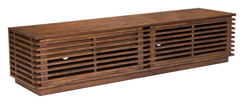 Linea Wide Entertainment Stand Walnut