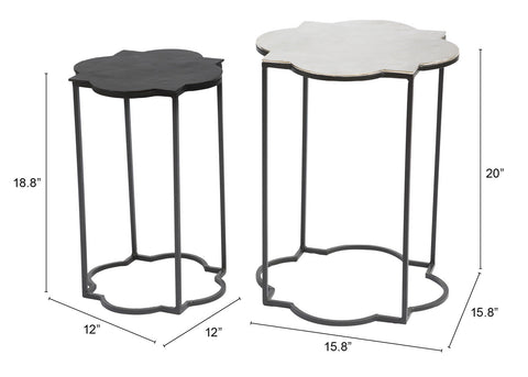 Brighton Accent Table Black & White
