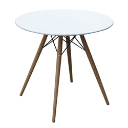 "Image of WOODLEG DINING TABLE 29"" FIBERGLASS TOP"