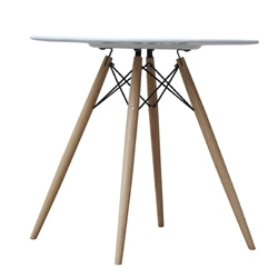 "WOODLEG DINING TABLE 48"" FIBERGLASS TOP"