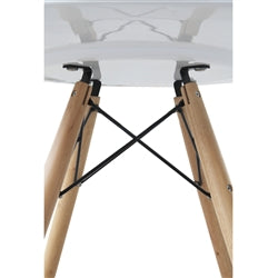 "Image of WOODLEG DINING TABLE 48"" FIBERGLASS TOP"