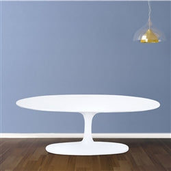 Image of FLOWER COFFEE TABLE OVAL FIBERGLASS
