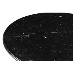 "FLOWER MARBLE TABLE 32"" BLACK"